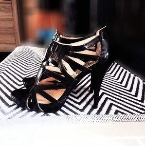 Michael Kors Black Leather Stilettos